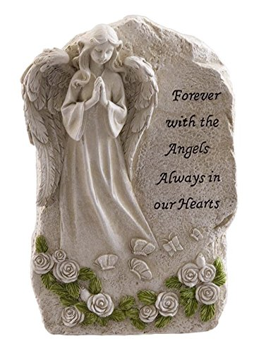 Forever with The Angels Statue to Express Sympathy for Funeral Or Memorial Comfort The Grieving for Loss of A Loved One ()