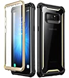 i-Blason Rugged Bumper Case and Screen Protector for Samsung Galaxy Note 8 (Black/Gold)