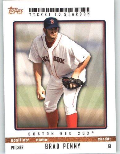 Brad Penny Boston Red Sox Topps Ticket To Stardom