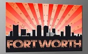 Amazon.com: DIGITAL ART XL Artwork FORT WORTH STRIPES RED