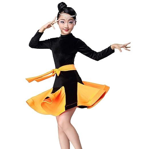 YONGMEI Traje de Baile - Vestido de Baile Latino niña ...