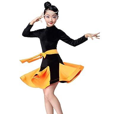 Uioy Traje de baile - Vestido de baile latino niña vestido de ...