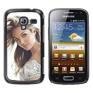 Caucho caso de Shell duro de la cubierta de accesorios de protección BY RAYDREAMMM - Samsung Galaxy Ace 2 - Sexy Girl Beauty