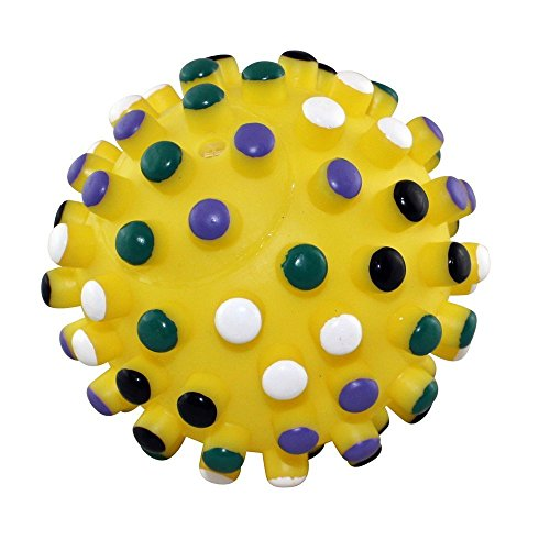 GJKKYJ Ethical 5-Inch Vinyl Gumdrop Ball with Colored Tips,Colors Vary