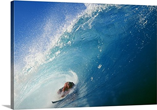 Hawaii, Oahu, North Shore, Banzai Pipeline Gallery-Wrapped Canvas