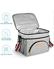 TOMOUNT 15L Kühltasche - Grau Picknicktasche Groß Faltbare Lunchtasche Tasche Thermotasche Isoliertasche