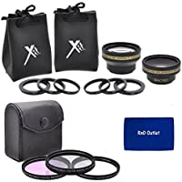 37mm Filter and Lens Combo Package For Sony HDR-CX160 Handycam Camcorder - PACKAGE INCLUDES: 37mm Pro Series Multi-Coated 3 Piece Digital Filter Kit (UV-CPL-FLD) Filters, 37mm 0.43X HD Wide Angle & 2.2X HD Telephoto Lenses With Case & Pouches