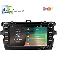 XTRONS 8 Android 6.0 HD Digital Multi-touch Screen 1080P Video Car DVD Player Custom Fit for Toyota Corolla 2007-2011