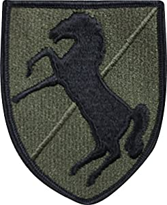 Army 11th Armored Cavalry Military Patch Subdued