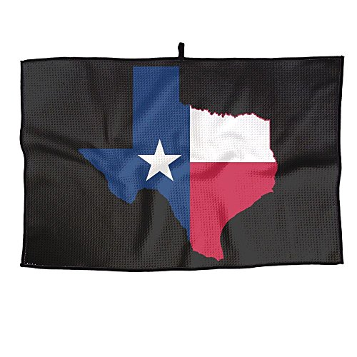 (Game Life Texas Flag Personalized Golf Towel Microfiber Sports Towel)
