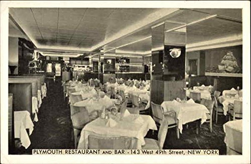 Plymouth Restaurant and Bar New York, New York Original Vintage Postcard (Bar Plymouth)