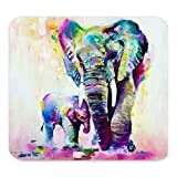 Mpban Unique Custom Rectangle Mouse Pad Extended,Abstract Vintage Watercolor African Elephant Art Paintings,Gaming Non-slip Rubber Large Mousepad Mat