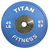 Best Olympic Bumper Plates - Single Titan Color Elite Olympic Bumper Plate Review