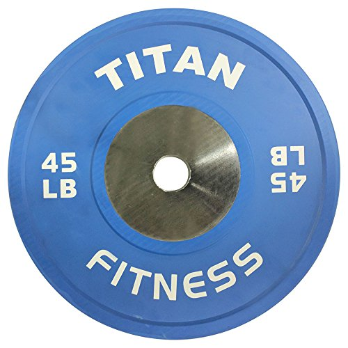 Single Titan Color Elite Olympic Bumper Plate - 45 LB