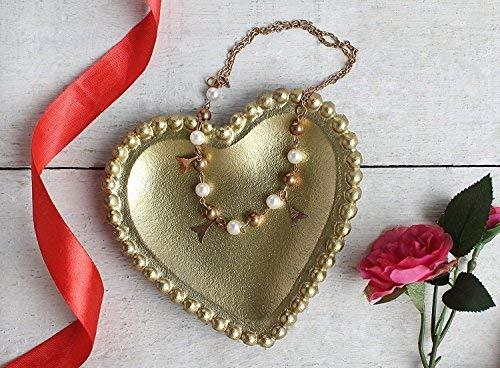 Store Indya Handcrafted Trinket Dish Accessories Decorative Jewelry Dish Kitchen Dinning Serveware Accessories (Heart) ()