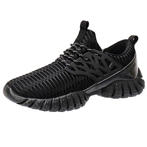 ALEADER Women's Lightweight Mesh Fashion Walking Shoes All Black 8 D(M) US