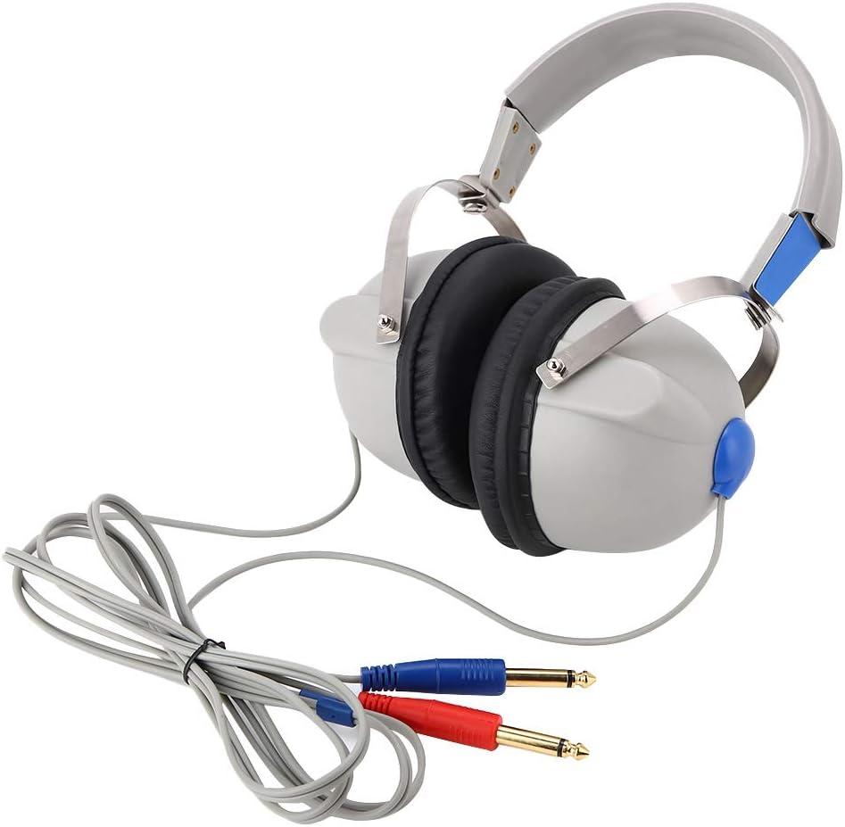 Audiómetro Auricular, Profesional Alta Sensibilidad 3dB Audición Auditiva Auditiva Auriculares Conducción de Aire Audiómetro Probador de Audición Inteligente, Fácil de Usar para la Escuela y Hospital