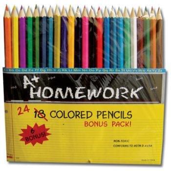 Colored Pencils - 24 ct. - Assorted colors-Bonus P 48 pcs sku# 396262MA by DDI