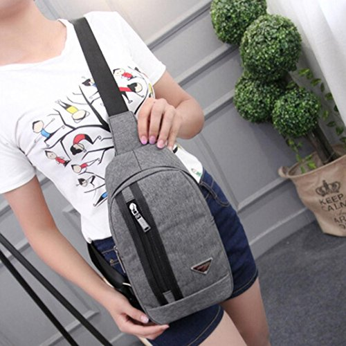 Unbalance Crossbody Canvas Leegor Sports Messenger Unisex gray Bag Bag Shoulder Backpack wSqXA0SO