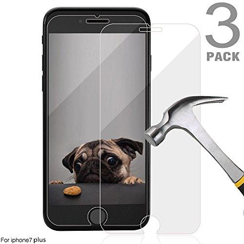 - iPhone 7 Plus Screen Protector,Toobeeyoo [3-Pack] Tempered Glass Screen Protector for Apple iPhone 7 Plus