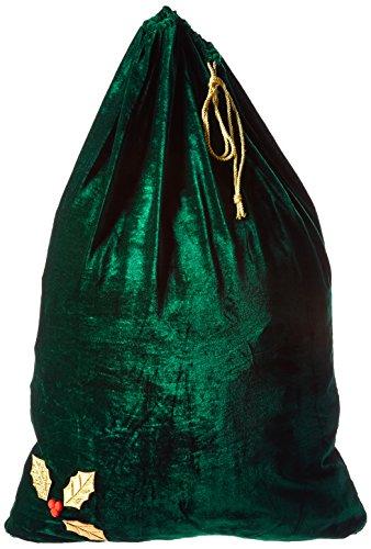 Sunnywood Men's Santa Green Drawstring Gift Bag, Green, One Size
