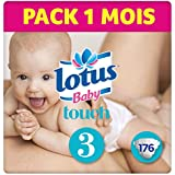 LOTUS BABY TOUCH  – Couches Taille 3 (4-9 kg) - lot de 4 packs de 44 couches (x176 couches)