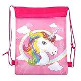 BraveWind 1 Pcs Unicorn Storage Bag Drawstring Bag For Unicorn Kid Birthday Party Wedding Graduation Decor