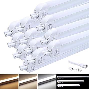 Lot Auralum® Eclairage Led Tubes 120cm 16w Réglette T5 De 12 KlTF1Jc