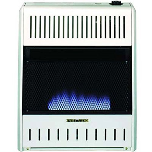 ProCom MNSD300TBA-BB Dual Propane/Natural Gas Blue Flame Vent-Free Gas Space Heaters, 30,000 BTU, Blower and Base (Propane Gas Direct Vent)