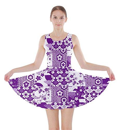 CowCow - Vestido - para mujer Purple & White