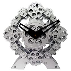 Industrial Moving Gear Desktop Clock