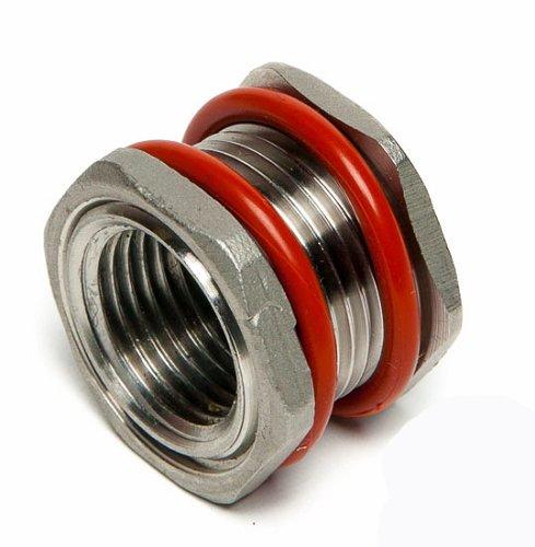 (Stainless Steel Weldless Bulkhead 1/2'' NPT)