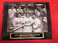 DiMaggio Brothers Collector Plaque w/8x10 RARE San Francisco Seals Photo!