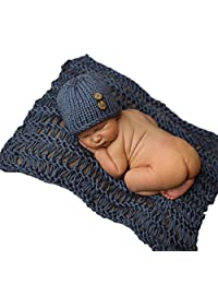 Changeshopping Infant Outfit Crochet Knitted Cap Costume Photography Prop