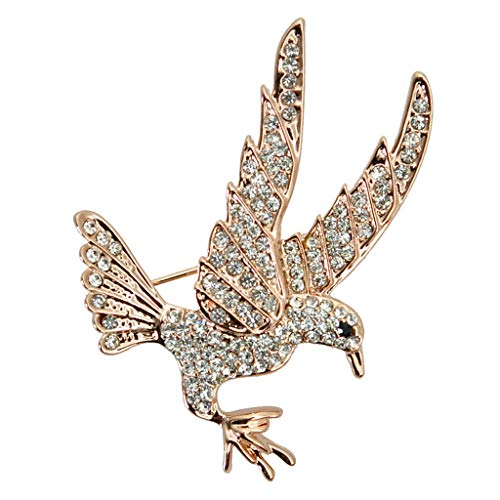 Eagle Brooch Pin Suit Stick Breast Lapel Pin Men Women Party Dress Accessory (Color - Gold)