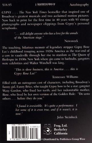Gypsy: A Memoir: Gypsy Rose Lee, Erik Preminger: 9781883319953: Amazon.com:  Books