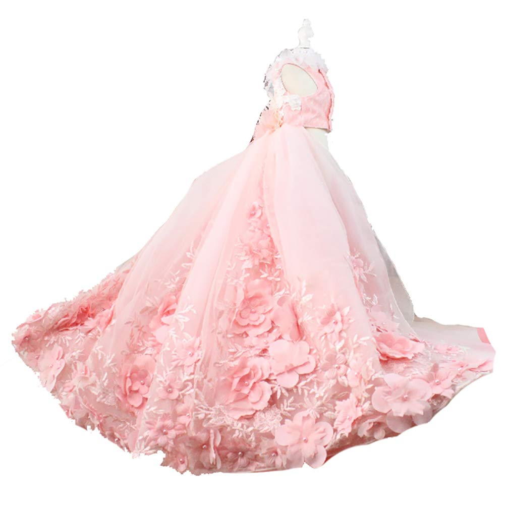 子犬犬プリンセスドレス、犬の花嫁衣装レース素材多層メッシュデザイン花の装飾結婚式の写真祭りパーティーに適して,XS B07QYV914J  Small Small