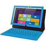 【2013年モデル】ELECOM Surface Pro/Surface Pro2対応 保護フィルム 気泡レス スムースタッチ ブルー TB-MSSFPWFLBSBU