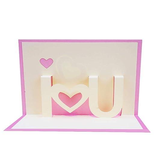 3D Pop Up Tarjetas de felicitación, TE AMO Pop Up Tarjetas ...