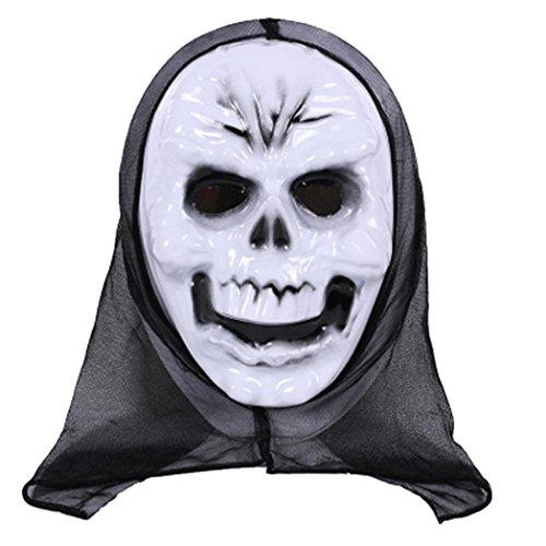 Halloween Mask! Elevin(TM)2017 Women Men Masquerade Ghost Mask Halloween Prom Party Terror Mask Accessories (D)