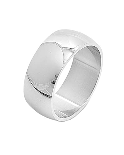 Polished Comfort Fit 10mm Stainless Steel Unisex Men Wedding Band