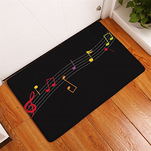CarPet Piano Mat Notes Pattern Welcome Home Door Floor Mats Waterproof Colored Guitar Beating Rugs Kitchen Home Decor Crafts 2 400mm x 600mm