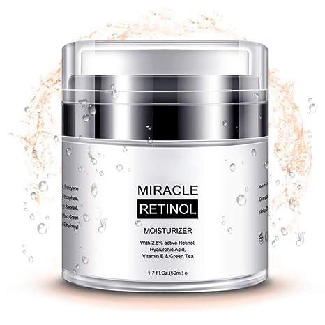 Crema facial hidratante con vitamina E y ácido hialurónico para el cuidado de la cara y