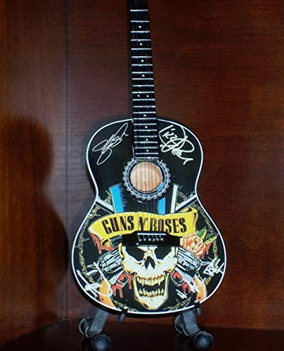 Mini Acoustic Guitar Guns N Roses Axel Slash Display Gift (Story Guitar Toy)