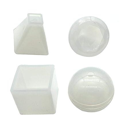JuanYa - Moldes de Resina para moldes de Silicona (4 Unidades), diseño de