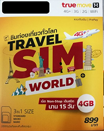 Travel Sim Card (Travel Sim World 4 GB Non-stop internet in China, France, UK, NZ, Vietnam, Russia and other 41 countries)