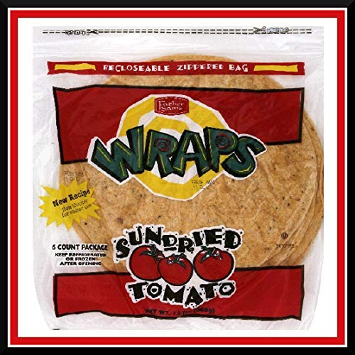 Father Sam's Bakery | Case Pack 18 Bags | 144 10'' Sun-Dried Tomato Wraps by Father Sam's Bakery (Image #1)