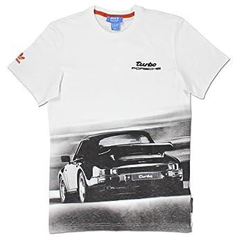 adidas Originals Hombre Porsche 911 Turbo Diseño Camiseta Vintage Blanco S-XXL: Amazon.es: Ropa y accesorios
