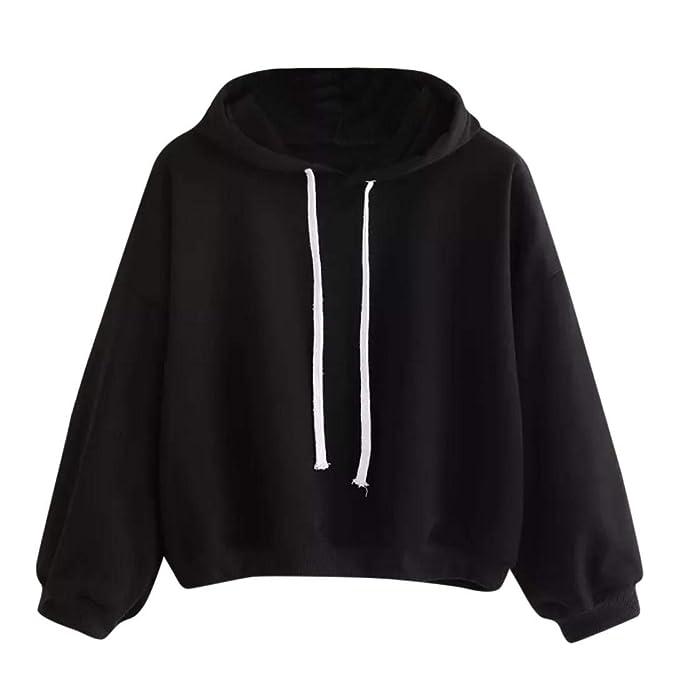 ❤ Sudadera de Invierno para Mujer,Otoño Sudadera con Capucha sólida Outwear Tops Blusa Absolute: Amazon.es: Ropa y accesorios