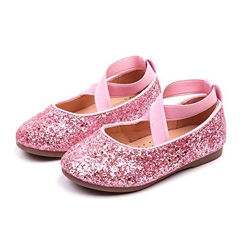 - YIBLBOX Girl's Glitter Ballet Flats Ballerina Mary Jane Princess Wedding Dress Shoes (Toddler/Little Kid/Big Kid) Pink